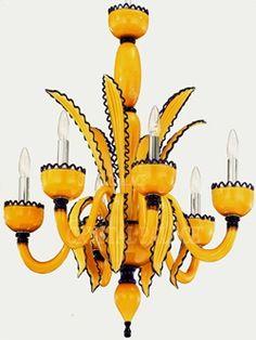 opalescent Murano glass chandelier ....love
