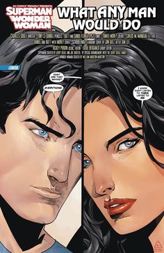 Superman & Wonder Woman by Charles Soule, Tony S Daniel, Matt Banning and Sandu Florea Wonder Woman Comic, Superman Wonder Woman, Dc Comics Superheroes, Dc Comics Characters, Clark Kent, Superman X, Comic Book Panels, Couple Cartoon, Comics Universe