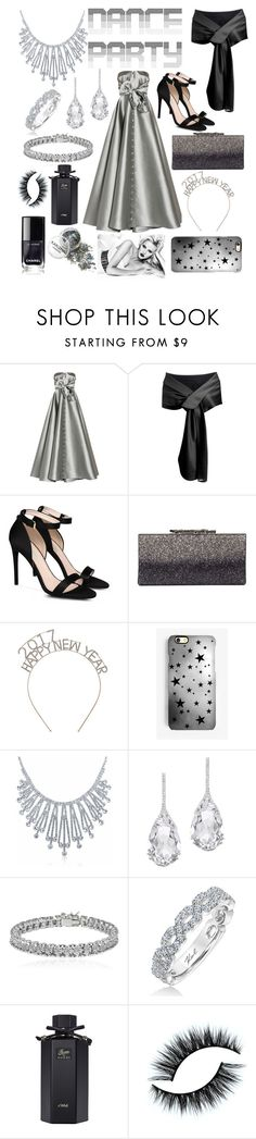 """New year party"" by jumainakmir ❤ liked on Polyvore featuring Alexis Mabille, STELLA McCARTNEY, Rianna Phillips, Bling Jewelry, Plukka, Apples & Figs, Karl Lagerfeld, Gucci, party and grey"