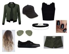 """""""Untitled #350"""" by leahleotaud ❤ liked on Polyvore featuring Miss Selfridge, rag & bone, Ray-Ban, LE3NO, Abercrombie & Fitch and Vans"""