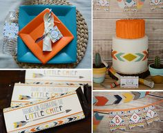 Tribal Aztec kilim invitation party printables diy bow and arrow first birthday baby shower