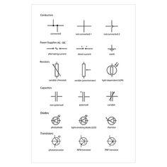 Electronics basics symbols knowledge pinterest electronics standard electrical circuit symbols poster, Relay Switch Electrical Symbol with Triangle