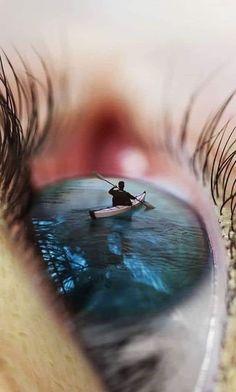 Surrealism Photography, Eye Photography, Creative Photography, Photography Illustration, Art Sketches, Art Drawings, Eyes Artwork, Miniature Photography, Illusion Art