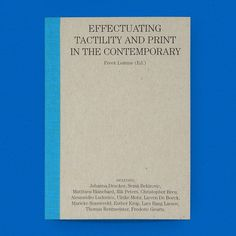 Back in Stock! Can You Feel It? Effectuating Tactility and Print in the Contemporary / Available at draw-down.myshopify.com / After endlessly hearing that Onomatopee publications have a materiality and tactility not often experienced in recent years editor (and director of Onomatopee) Freek Lomme decided to create an exhibition and publication addressing the issue of tactility and print today. The result is a palm-sized book jam-packed with information and ideas on the subject. Six…