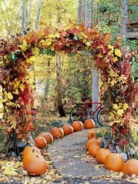 gorgeous idea for your arbor gate and path....or a autumn wedding