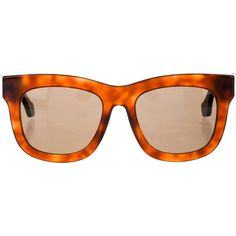 Pre-owned Balenciaga Tortoiseshell Oversize Sunglasses ($225) ❤ liked on Polyvore featuring accessories, eyewear, sunglasses, brown, tortoiseshell sunglasses, tortoise sunglasses, tortoise shell glasses, logo sunglasses and acetate sunglasses