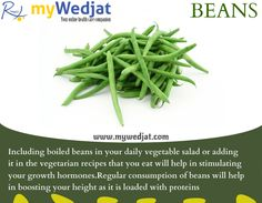 Natural trick to increase your height with #Beans  #WedjatHealthFacts #Taller #TrickToHeight #GreenVeggies #Organic #GrowTaller #Protein #NutritionalVegetables #Food #HealthyFood
