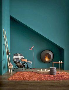 Peinture : bleu, Goa de Flamant ; Gris Maya de Ressource ;