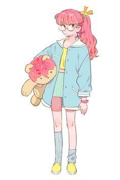 Cute bubblegum