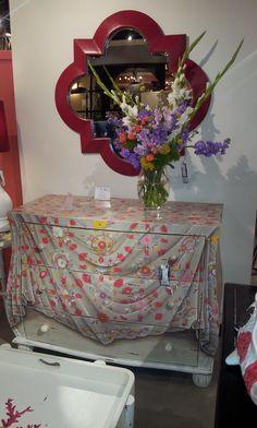 Fantastic trompe l' oeil dresser at Steven Shell. http://www.stevenshell.com/