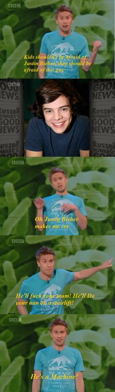 Russell Howard on Justin Bieber vs. Harry Styles. Russell Howard's Good News