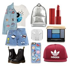 """""""Street Style"""" by laurenisabae ❤ liked on Polyvore featuring Paul & Joe Sister, Dr. Martens, Chicnova Fashion, 3.1 Phillip Lim, Zero Gravity, NARS Cosmetics, Guerlain, adidas Originals, denim and patches"""