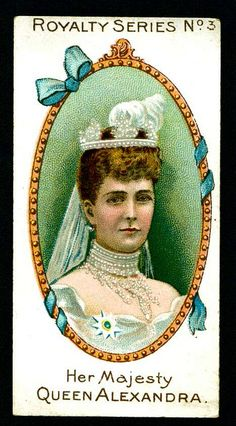 Cigarette Card - Her Majesty Queen Alexandra by cigcardpix, via Flickr