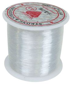 Clear Fishing Line for Hanging Decorations 82yds. $0.88 Use clear fishing line to hang tissue poms, paper/silk lanterns, or other decorations to give them a floating effect. Perfect for hanging wedding decorations.