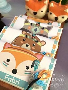 Be My Guest Party's Birthday / Woodland - Photo Gallery at Catch My Party Wild One Birthday Party, Baby Birthday, First Birthday Parties, Forest Party, Woodland Party, September Baby Showers, Party Mottos, Fox Party, Baby Shower Parties