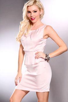 Dusty Pink Scoop Neck Sexy Peplum Dress @ Amiclubwear sexy dresses,sexy dress,prom dress,summer dress,spring dress,prom gowns,teens dresses,sexy party wear,women's cocktail dresses,ball dresses,sun dresses,trendy dresses,sweater dresses,teen clothing,even
