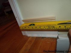 When it comes to easy DIY home upgrades, nothing makes as impressive an impact as this project I'm about to share with you here today. When you add affordable trim a few inches above your builder-grade baseboards and then paint in between, you can get a very high-end look for less! Did you know that purchasing a 5-7 inch baseboard from the home improvement store can get very expensive very quickly? However, with this little trick, you can get the look for less! Simply buy basic trim… Kitchen Sink Interior, White Kitchen Sink, Home Upgrades, Cool Diy, Easy Diy, Easy Projects, Home Projects, New Carpet, Baseboards