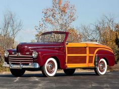 1946 Ford Super Deluxe Woodie Convertable...