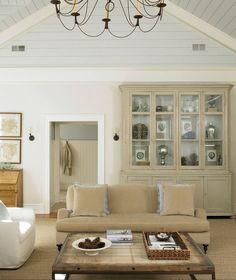 Pale grey-blue ceiling