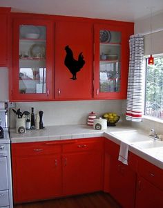 ROOSTER vinyl wall art decal graphic    One-piece vinyl decal    Size: 6.5w x 11h Custom sizes available    Includes your choice of vinyl color; black is default    ~~~    ABOUT VINYL WALL ART DECALS Vinyl wall art is the hottest new trend in home decorating. Much easier than stencils and paint, and look better too!    Apply to any smooth, clean, flat surface; walls, mirrors, doors, etc.    Application instructions included; real easy .. basically just peel-n-stick.    Easily removable, but…
