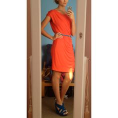 My outfit: country road mid length dress, blue wedges