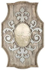 Aidan Gray Fleur de Lis Wooden Mirror  - beautiful!  #home #decor