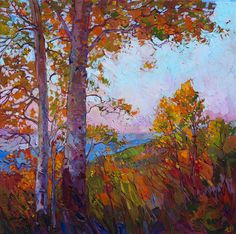 Cedar Breaks National Park in Utah, painted in autumn foliage by landscape painter Erin Hanson