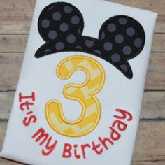 Mr. Mouse Numbers Applique