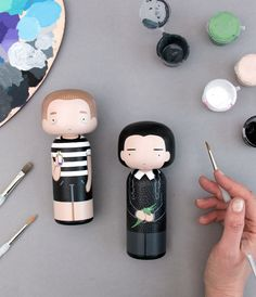 Addams Family dolls - Wednesday and Pugsley - by Sketchinc