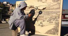 Homem Cria Incríveis Obras De Arte Usando Apenas Uma Lupa e Luz Solar http://www.funco.biz/homem-cria-incriveis-obras-arte-usando-apenas-lupa-luz-solar/