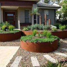Side Garden, Garden Edging, Garden Paths, Balcony Garden, Front House Landscaping, Modern Landscaping, Backyard Landscaping, House Landscape, Landscape Design