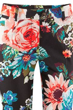 Favorite Floral Print Crop Pants - OASAP.com