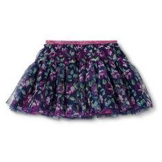 Infant Toddler Girls' Floral Tulle Skirt - Nightfall Blue 5T