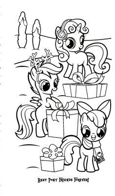 Applejack coloring page horses
