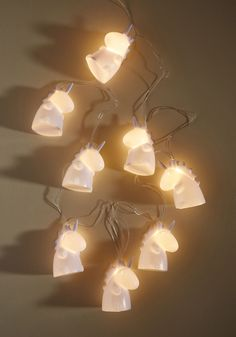 Made Magical String Lights | Mod Retro Vintage Decor Accessories | ModCloth.com  Blank white hallways and beige bedrooms will be boring no more once these unicorn string lights have their way with 'em! With cartoonish bodies and messy manes, these white lights bring a little - actually, a lot - of character to your space.