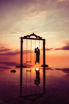 Swinging in the sunset... #Bali #romance #reflection Click the picture to see the whole photoshoot!