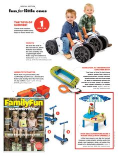 Step2 High Seas Adventure Sand & Water Table featured in June/July 2014 issue of FamilyFun