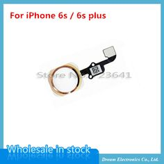 """10pcs/lot Home Button With Flex Cable Assembly For iPhone 6S 4.7"""" For iPhone 6s Plus 5.5"""" Sensor Replacement Parts 4 colors"""