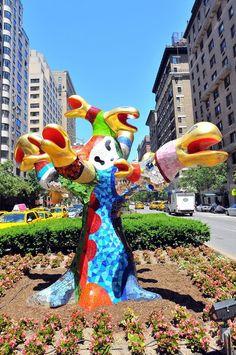 Niki de. St Phalle, Arbre Serpents, Photo by Malcolm Pinckney, NYC Parks
