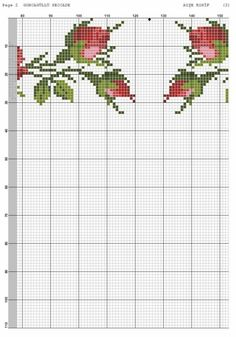 Seccade yapılışı için şablon - 1 Hardanger Embroidery, Cross Stitch Embroidery, Hand Embroidery, Cross Stitch Patterns, Cross Stitch Tree, Cross Stitch Flowers, Crochet Crocodile Stitch, Cross Stitching, Needlepoint