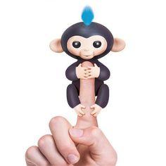 Cute smart colorful fingerlings baby monkey hand and feet dynamic finger monkey juguetes electronic pets random send