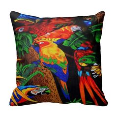 Gorgeous Parrot Throw Pillow