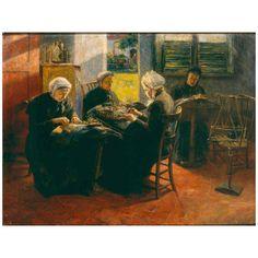 Huile sur toile de Ferdinant WILLAERT (belge 1861 - 1938) Musée Groeninge de Bruges - BELGIQUE