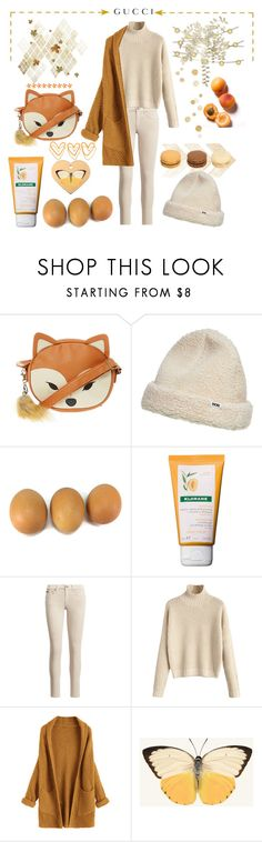 """♡♡♡ Red fox ♡♡♡"" by strawberry-milk-773 ❤ liked on Polyvore featuring Wood Wood, Klorane and Gucci"