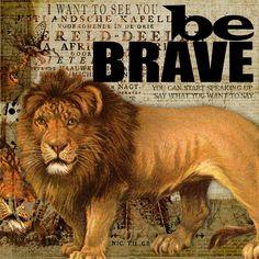 Be Brave - Digital Scrapbooking Ideas - DesignerDigitals #scrapbook #lion #brave
