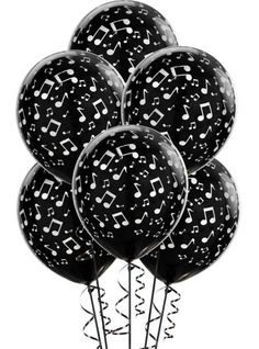 Musical Notes Latex Balloons. #blackandwhite #balloons http://www.pinterest.com/TheHitman14/black-and-white/