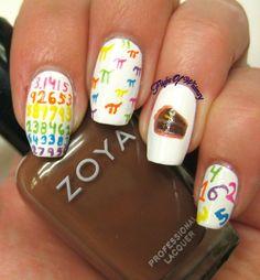 pie themed nail art