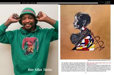 Ras Silas Motse in the South African Artist Magazine South African Artists, Magazine, Mens Tops, Magazines, Warehouse, Newspaper