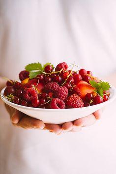 Bowl of summer fruits