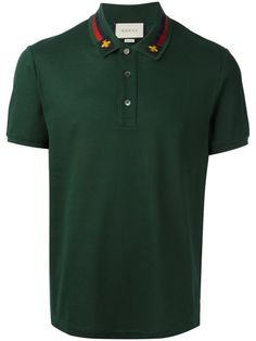 GUCCI House Web embroidered polo shirt. #gucci #cloth #shirt